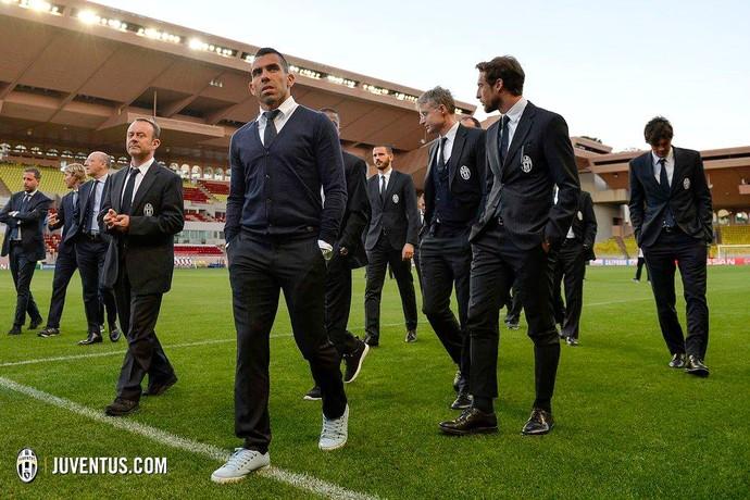 Tevez Juventus Monaco (Foto: Reprodução / Facebook)