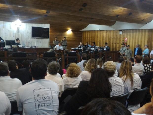 Alonso de Souza Pinheiro, pai de Henrique, foi testemunha durante julgamento Goiânia Goiás (Foto: Vanessa Martins/G1)