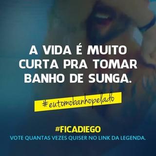 Diego Grossi ganhou dos amigos uma hashtag e um link para votarem em João para sair do BBB 14 (Foto: Reprodução do Facebook)