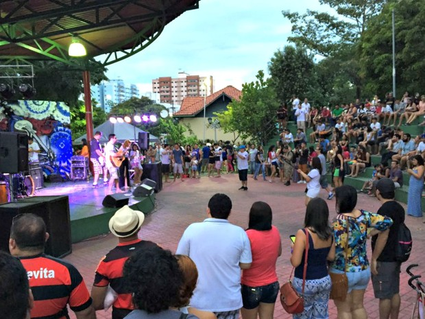 Festival Malaba ocorre em parque na capital (Foto: Indiara Bessa/G1 AM)