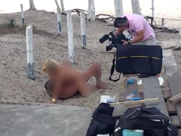 Polícia investiga ato obsceno de atores em filmagens no Rio (Foto: Reprodução)
