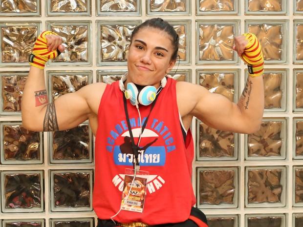 A Ronda não vê a hora de lutar com a Karina (Foto: Isabella Pinheiro / Gshow)