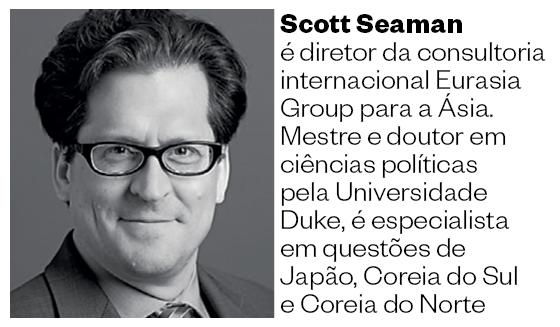 Scott Seaman é diretor da consultoria internacional Eurasia Group para a Ásia. Mestre e doutor em ciências políticas pela Universidade Duke, é especialista em questões de Japão, Coreia do Sul e Coreia do Norte (Foto: Divulgação)