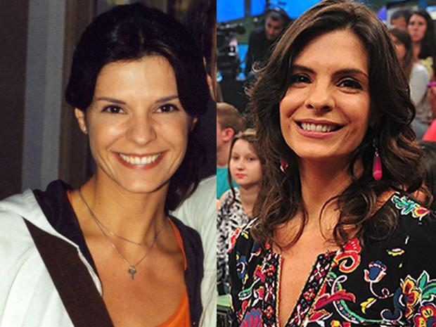 A única diferença entre essas duas Helenas Ranaldi é que a da esquerda é personagem (Foto: Gshow)