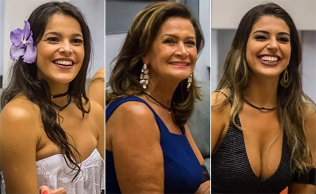 Emilly, Ieda e Vivian são as finalistas do BBB 17  (Foto: Globo/ Paulo Belote)