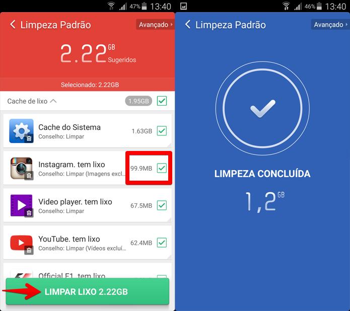 Depois de concluído o exame, é possível preservar os dados dos aplicativos que você quiser (Foto: Reprodução/Filipe Garrett)