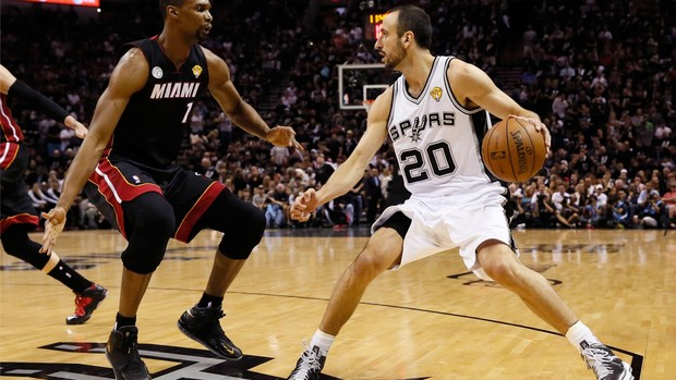Jogo 5 Miami Heat San Antonio Spurs Manu Ginobili (Foto: Getty Images)