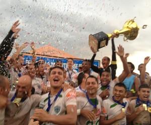 Guaraí comemora título na Segundona (Foto: Vilma Nascimento/GloboEsporte.com)
