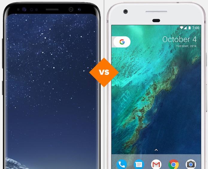 Galaxy S8 ou Google Pixel: veja qual celular se sai melhor no comparativo (Foto: Arte/TechTudo)