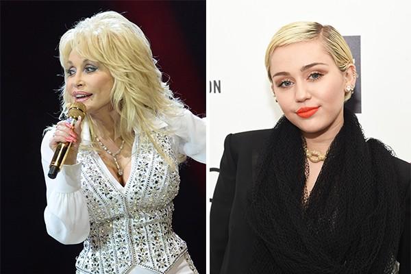 Dolly Parton é a madrinha da cantora Miley Cyrus (Foto: Getty Images)