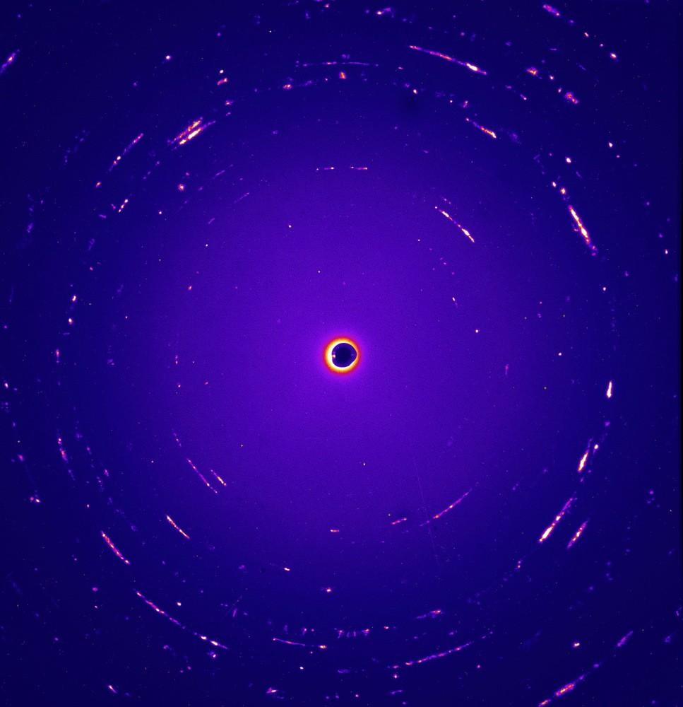 Imagem em cores falsas mostra Orion, um dos tipos de partículas encontradas (Foto: nasa)