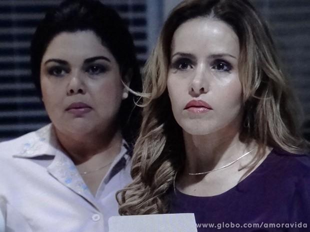 Perséfone e Glauce são flagradas por Féliz (Foto: Amor à Vida / TV Globo)