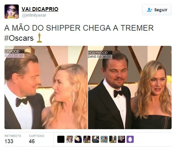 Internautas brincam com encontro de Leonardo Di Caprio e Kate Winslet (Foto: Reprodução/Instagram)
