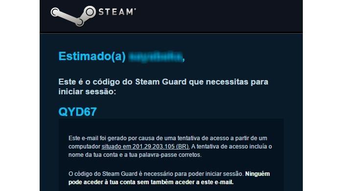 Copie o código do email e cole no menu do Steam Guard para entrar na conta (Foto: Reprodução/Tais Carvalho)