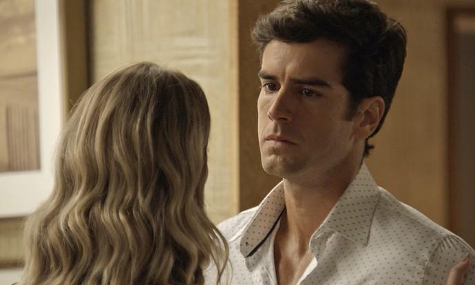 Felipe discute com Jéssica (Foto: TV Globo)