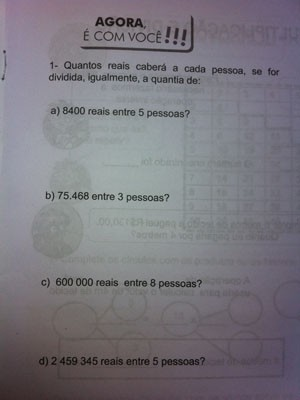 Apostila distribuída em escolas do Rio erra capitais de estados do NE Numerais_pontuacao