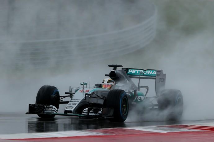 Lewis Hamilton lidera 3º treino livre para GP dos EUA (Foto: AFP)