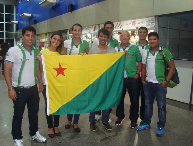 Delegação acreana de vôlei de praia (Foto: Divulgação/FEAV)