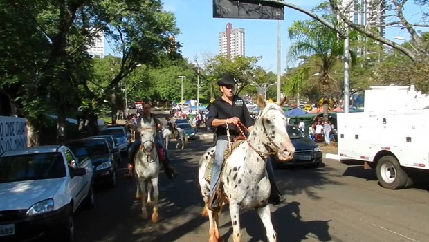 Foto da 9ª Cavalgada Ecológica e Romaria de Santo Expedito em Foz do Iguaçu (Foto: Divulgação)