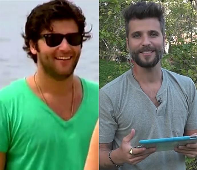Bruno Gagliasso em 2010 e atualmente (Foto: TV Globo)