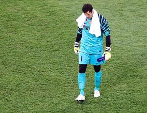 Julio Cesar na derrota do Inter de Milão para o Schalke (Foto: Reuters)