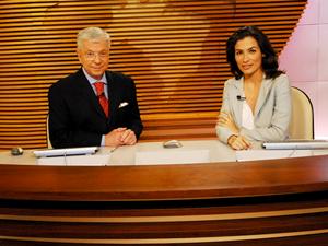 Renata Vasconcellos e Renato Machado à frente do Bom Dia Brasil (Foto: TV Globo / João Miguel Júnior)
