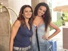 Claudia Raia, Dira Paes e Lucy Ramos gravam cenas na Zona Oeste do Rio