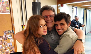 Marina Ruy Barbosa publicou uma imagem com o diretor Luiz Henrique Rios e Felipe Simas: 'Já em clima de saudade' | Reprodução
