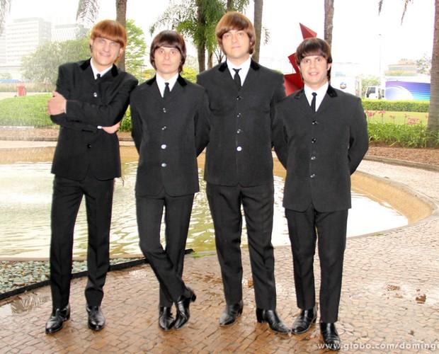 A semelhança com os Beatles impressiona (Foto: Domingão do Faustão / TV Globo)