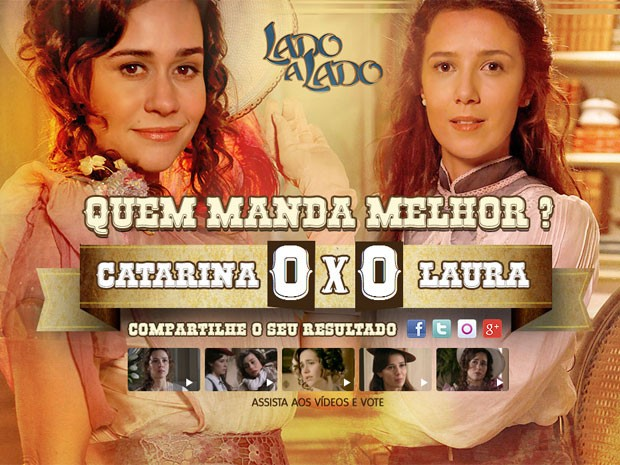 Quem manda melhor? Laura ou Catarina? (Foto: Lado a Lado/TV Globo)