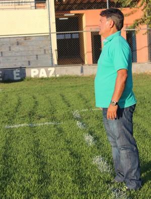 Aníbal Lemos, treinador do Picos - Copa Piauí 2013 (Foto: Náyra Macêdo/GLOBOESPORTE.COM)