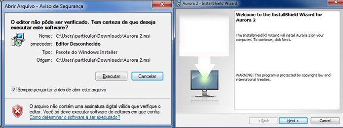 Instalação do Aurora é super simples (Foto: Reprodução / Dario Coutinho)