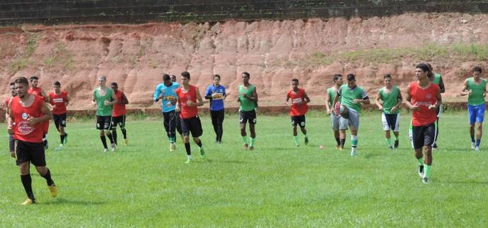 Treino do Presidente Prudente, PPFC (Foto: Ronaldo Nascimento / GloboEsporte.com)