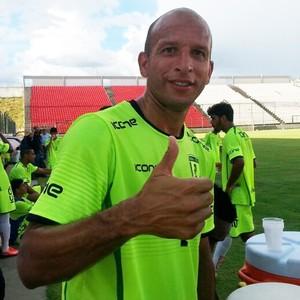 atacante Fábio Júnior, Minas Futebol de Sete Lagoas. (Foto: Rodrigo Franco/TV Globo Minas)