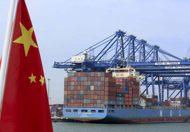 Importação e exportação da China; PIB da China ; comércio da China (Foto: Nelson Ching/Getty Images)