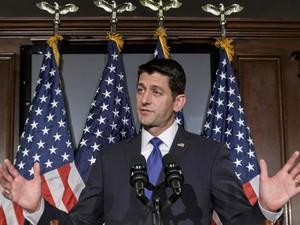 Presidente da Câmara dos EUA, Paul Ryan, fala a jornalistas que não aceitará possível indicação do Partido Republicano para ser o candidato à presidência dos EUA