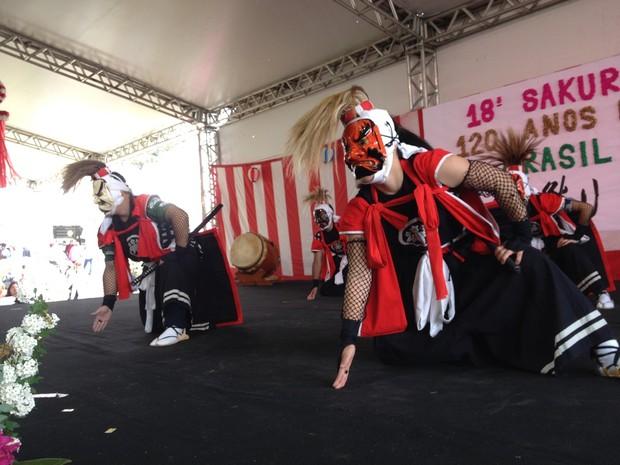 Evento contou com apresentações culturais (Foto: Eduardo Cristofoli/RBS TV)
