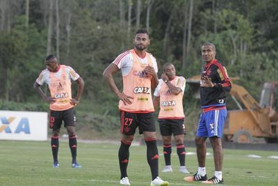 Kayke treino Flamengo (Foto: Divulgação / Flamengo)
