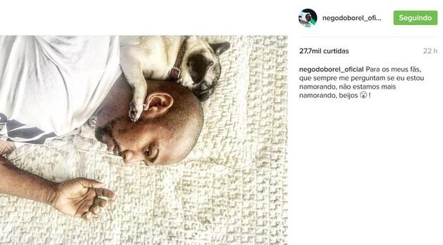 Nego do Borel anuncia fim do noivado com Crislaine Gonçalves (Foto: Reprodução/Instagram)