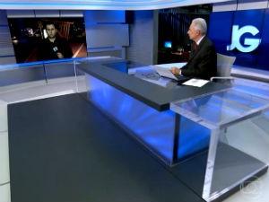 Ivan Lemos entrou ao vivo no Jornal da Globo   (Foto: Reprodução/ Rede Globo)