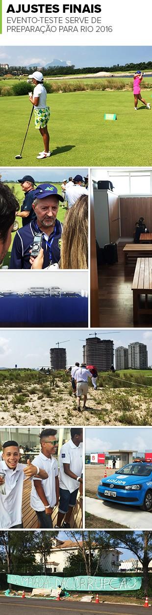 Mosaico Golfe Evento-Teste (Foto: GloboEsporte.com)
