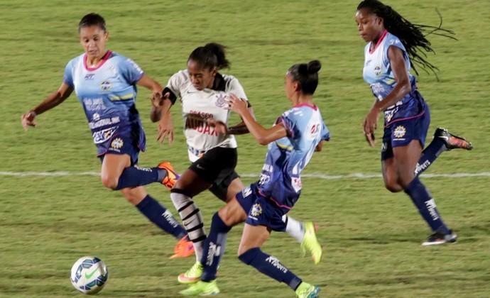 Corinthians São José futebol feminino (Foto: Evelson de Freitas/ AllSports)