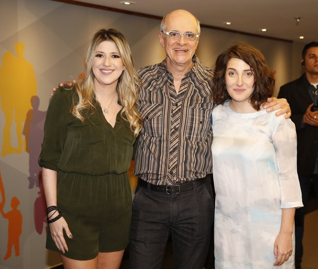Dani Calabresa, Marcos Caruso e Clarice Falcão  (Foto: Marcos Serra Lima / Ego)