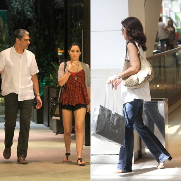 Bonner e Fátima não se cruzam em shopping (Foto: agnews)