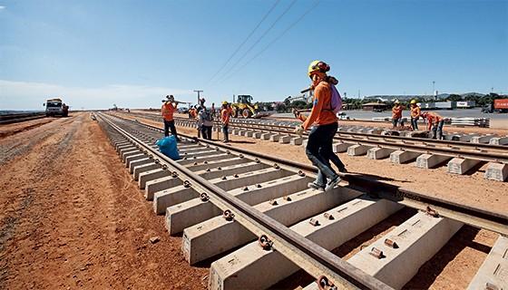 Obra da Ferrovia Norte-Sul  (Foto: Tasso Marcelo/Estadão Conteúdo)