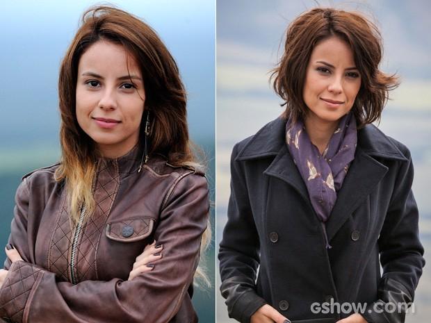 Andreia Horta cortou os cabelos bem curtos e repicados (Foto: Império / TV Globo)