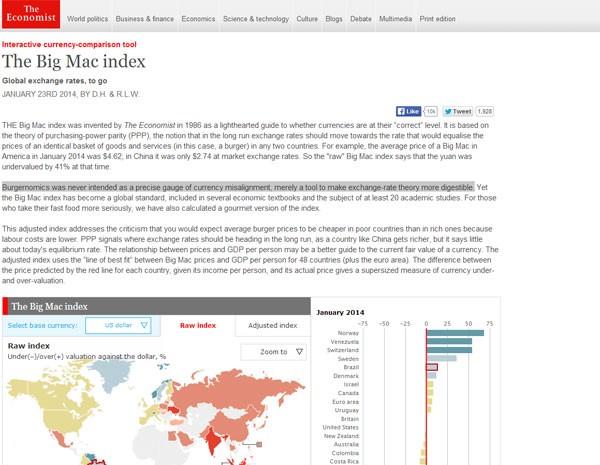 Revista faz lista dos preços de Big Mac em mais de 40 países. (Foto: Reprodução)