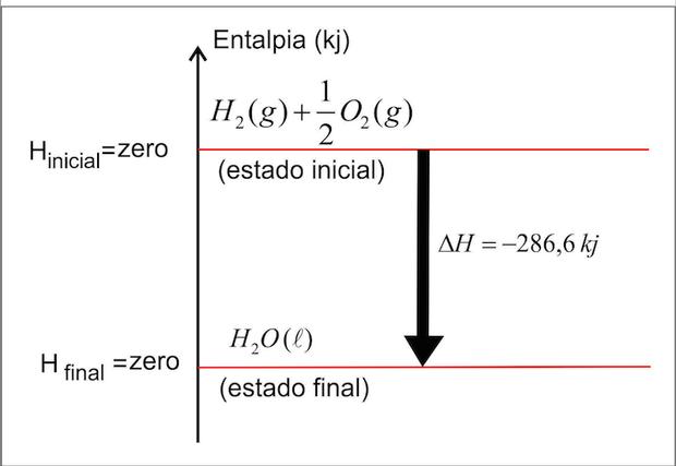 Gráfico com entalpia padrão (Foto: Colégio Qi)