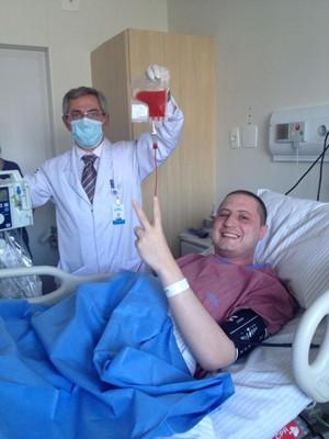 Gabriel passa bem após transplante de medula óssea (Foto: Gabriel Massote/Arquivo Pessoal)