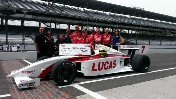 Luiz Razia fez a pole position para a corrida no oval de Indianápolis na Indy Lights (Foto: Divulgação)